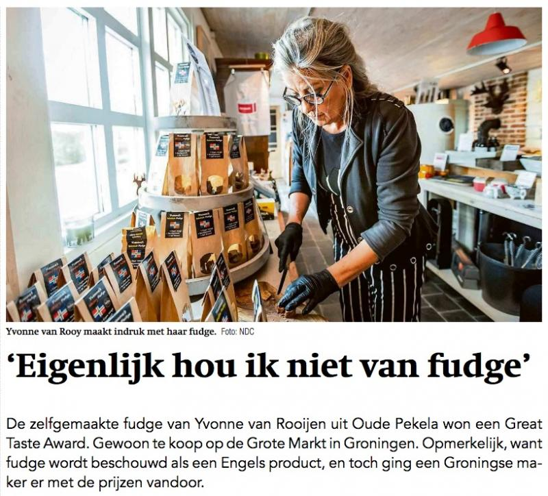 Yvonne's Fudge in the newspapers.